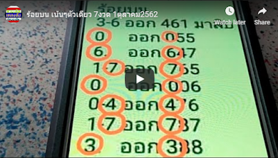 Thailand lottery VIP tips post group Facebook 01 October 2019
