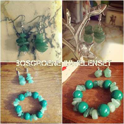 Handmade Jewelry Bosgroene Juwelenset