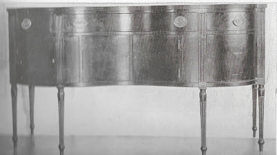 antique sheraton style sideboard with turned legs