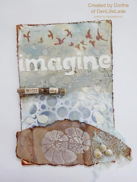 mixed media card by Dorthe Hansen