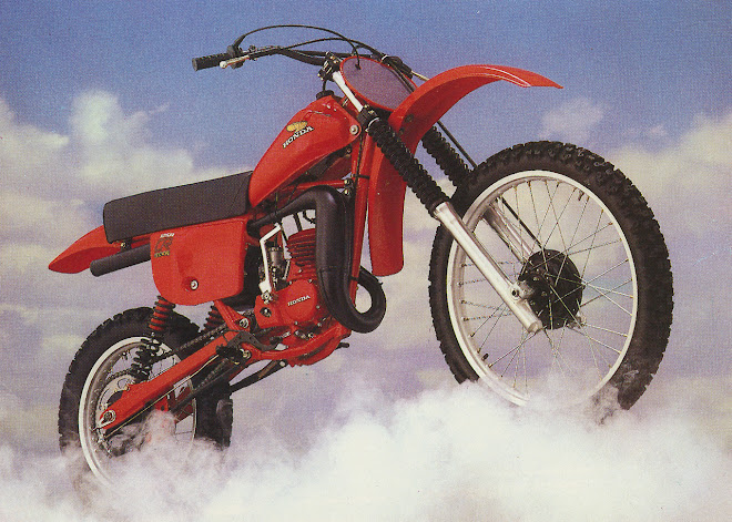 A Honda CR125 Elsinore up in heaven, yesterday...