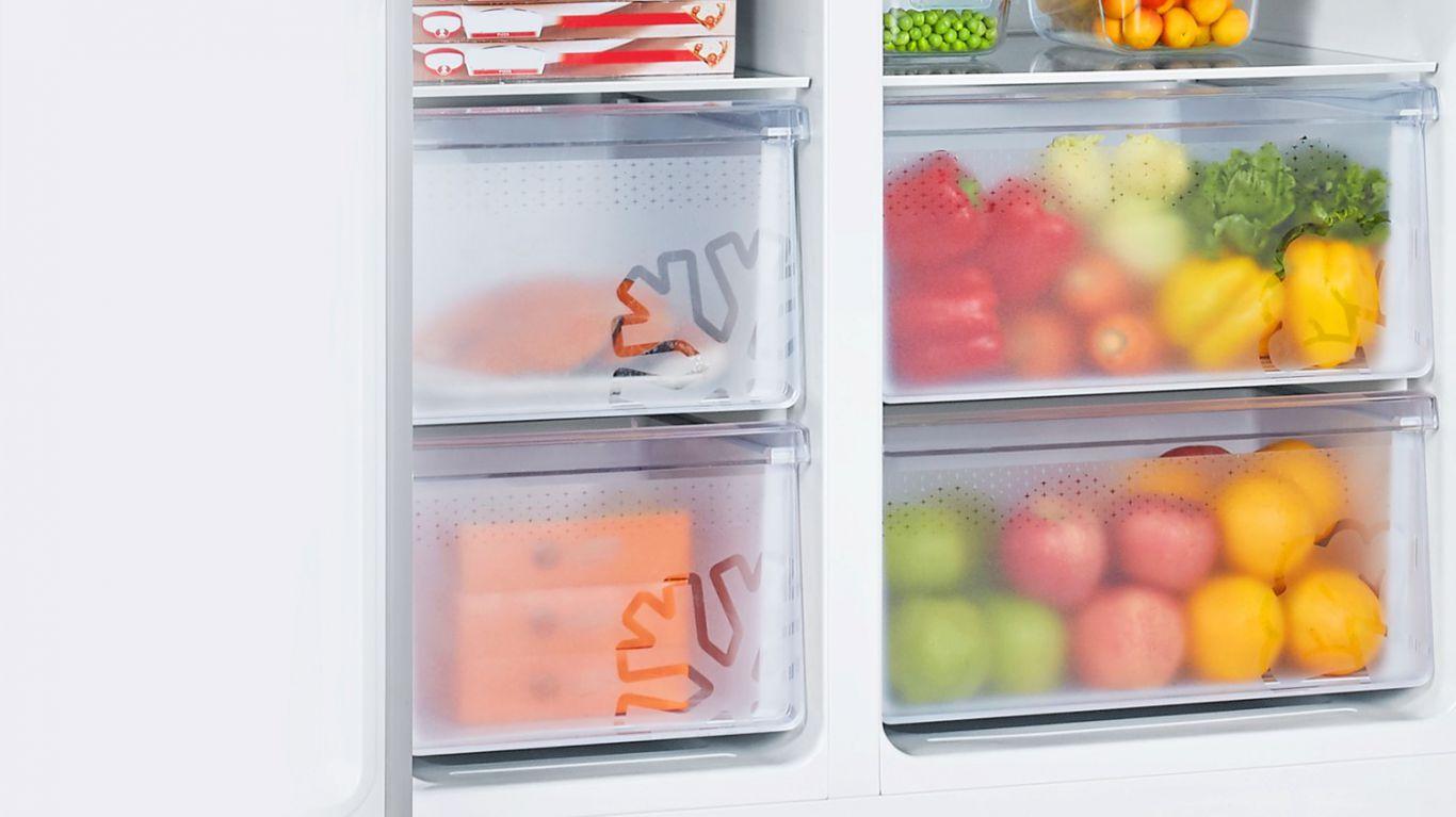 Thoải mái trữ đồ với sức chứa lên tới 551 Lít của Tủ lạnh Casper RS-575VBW