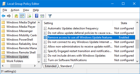 Menonaktifkan tombol Check for Updates di windows 10-gambar 2