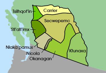 Mapa Canadá - Tsilhqot'in