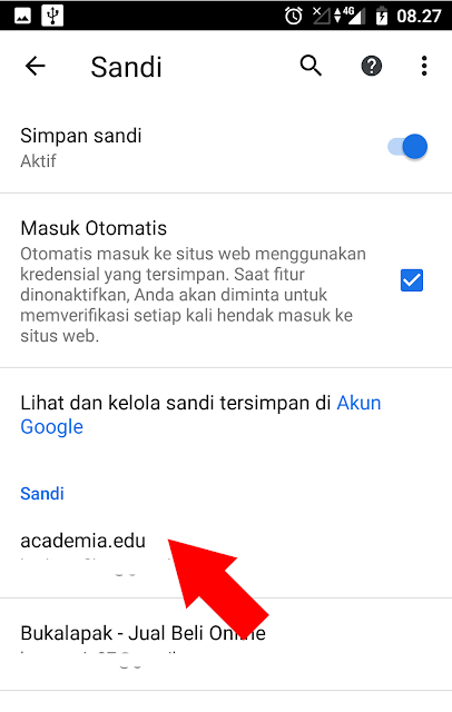 Melihat Password Login di Google Chrome Android