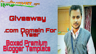 Giveaway: Free .COM Domain For 1 Year + Premium Blogger Template