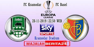 Prediksi FC Krasnodar vs FC Basel — 28 November 2019