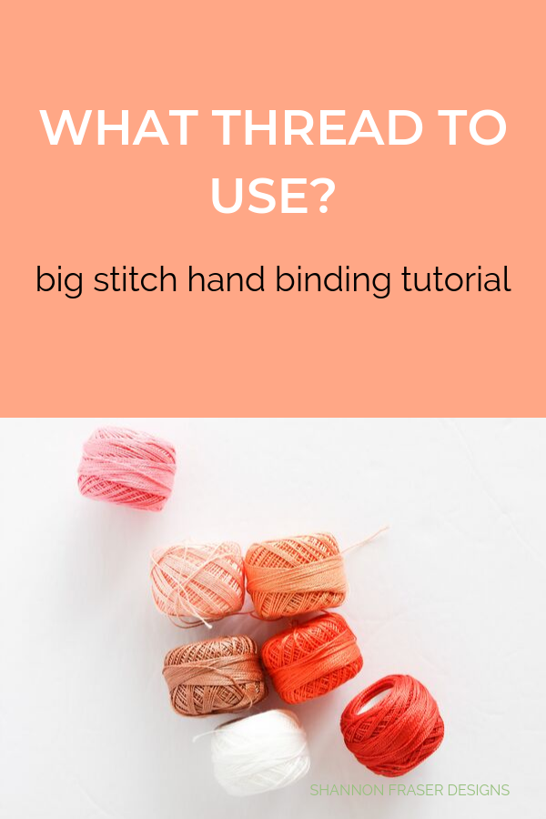 Pearl Cotton Thread Balls | Big Stitch Hand Quilted Binding | Quilt Binding Tutorial Part 3 | Shannon Fraser Designs #bigstitchquilting #handquilted #pearlcottonthread