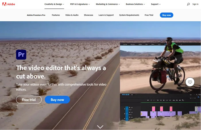 Adobe Premiere Pro YouTube video editing software