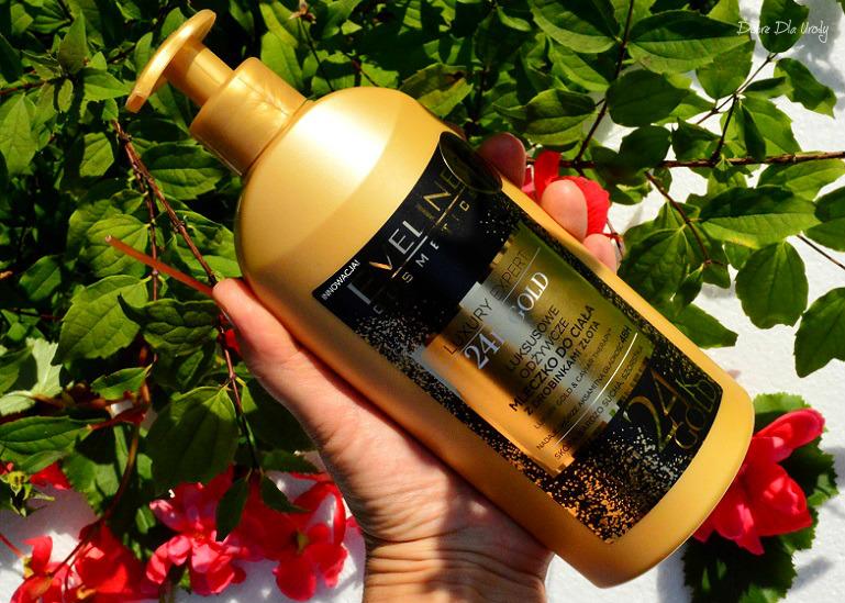 Eveline Luxury Expert 24K Luksusowe odżywcze mleczko z drobinkami złota recenzja