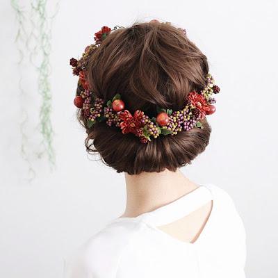 柘榴と木の実の花冠_airaka