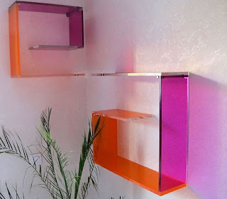 Color Glass Shelves