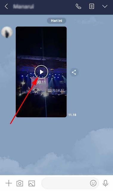 cara menyimpan video dari timeline line android