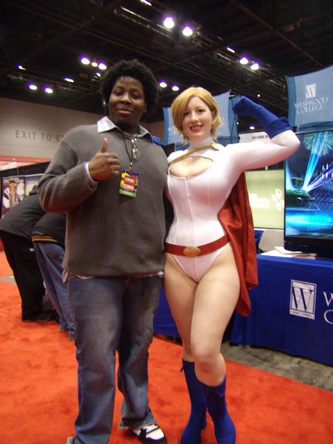 cosplayer as power girl