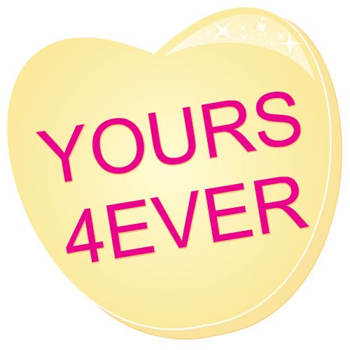 yours forever valentines day heart clip art