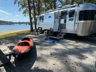 Kayak ready for the lake