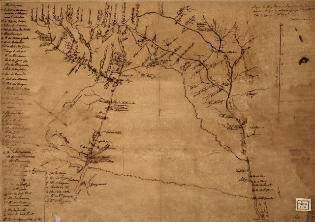 Mapa dos rios Doce e Jequitinhonha.