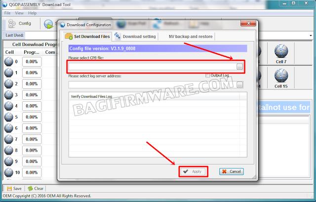 klik browse dan masukan firmware cpb