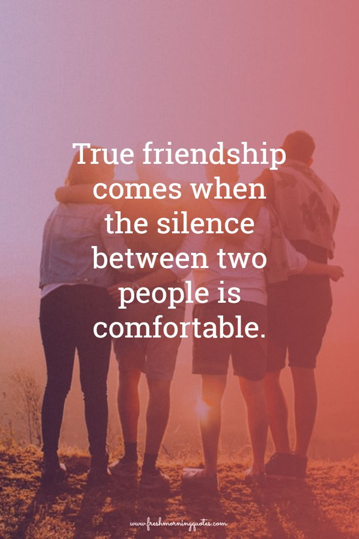 true friendship comes when silence between two people