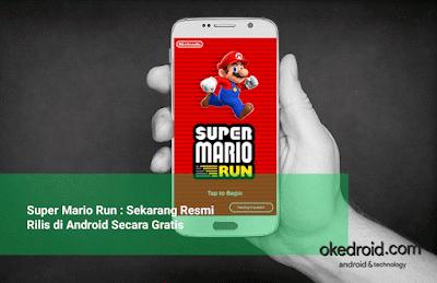 kapan super mario run rilis di android tepatnya tanggal 23 Maret 2017