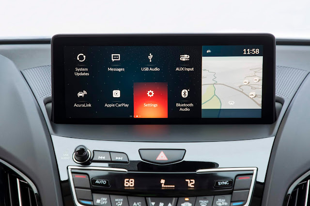 Entertainment interface in 2019 Acura RDX