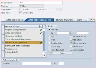 Infotipo horario trabajo teorico