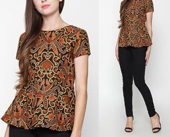 Model Baju Batik Modern Wanita Gemuk Agar Terlihat Langsing