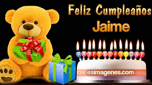 Feliz cumpleaños Jaime