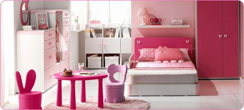 Cuartos de ni a en rosa dormitorios colores y estilos - Lamparas habitaciones infantiles ...