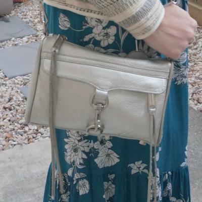 teal floral dress Rebecca Minkoff metallic silver mini MAC   awayfromtheblue