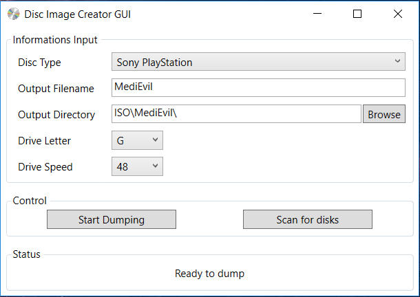 Best disc dumping software Disc Image Creator now has a GUI