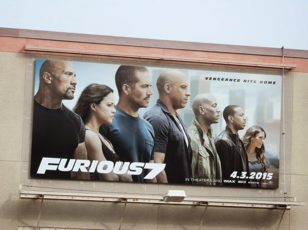 Furious 7 movie billboard