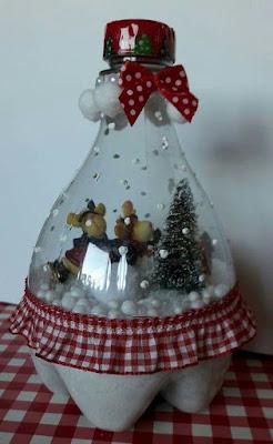 enfeites de Natal com garrafa PET