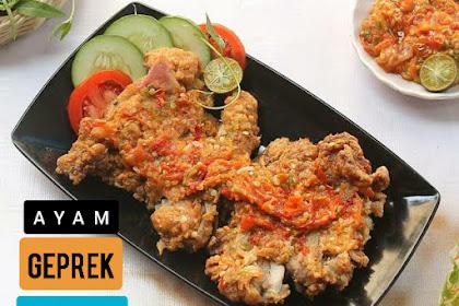 Resep Ayam Geprek Asli Juara Crispy Enak Sederhana dan Mudah