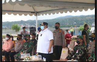 Gubernur Ali Mazi Pimpin Apel, Tiga Zona Pemantauan Aktifitas Kegiatan Masyarakat di Kota Kendari
