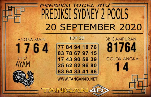 PREDIKSI TOGEL SYDNEY 2 TANGAN4D 20 SEPTEMBER 2020