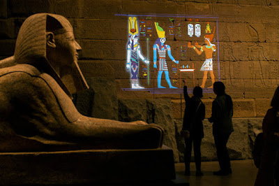 Projection mapping reveals colours of Egyptian temple