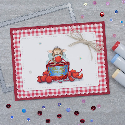 House Mouse Designs Maraschino Mouse, Newton's Nook Designs Frames and Flags die set
