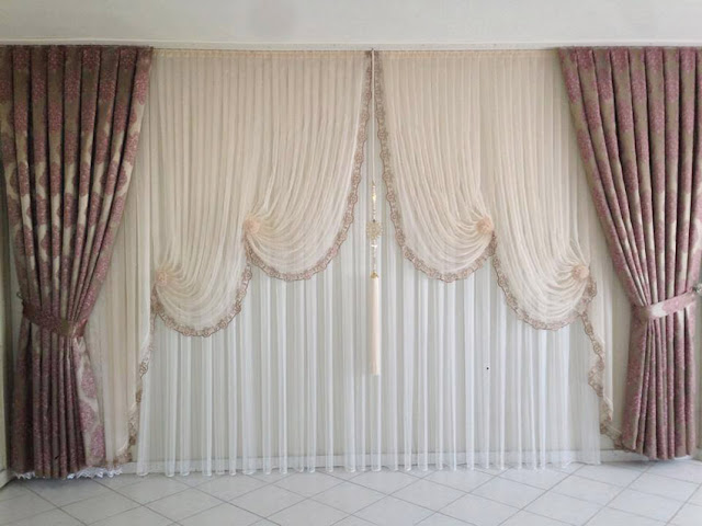 living room white curtain designs in modern style