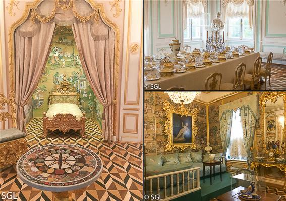Habitaciones del Palacio de Peterhof, excursion desde San Petersburgo