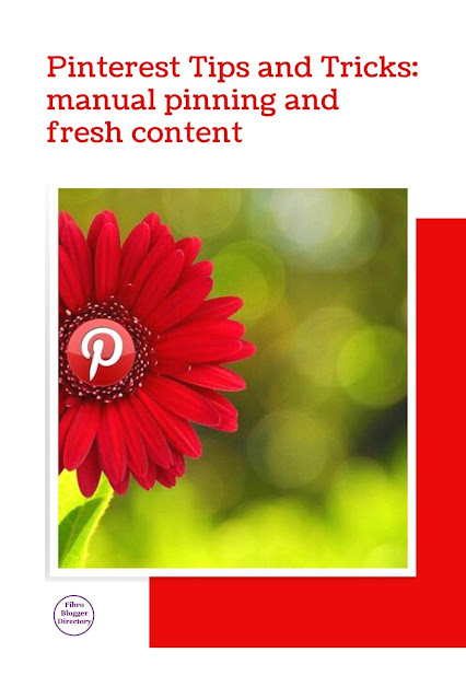 Pinterest Tips and Tricks: manual pinning and fresh content. Follow along with me as I experiment with pinterest to get more blog traffic