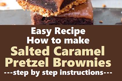 Salted Caramel Pretzel Brownies