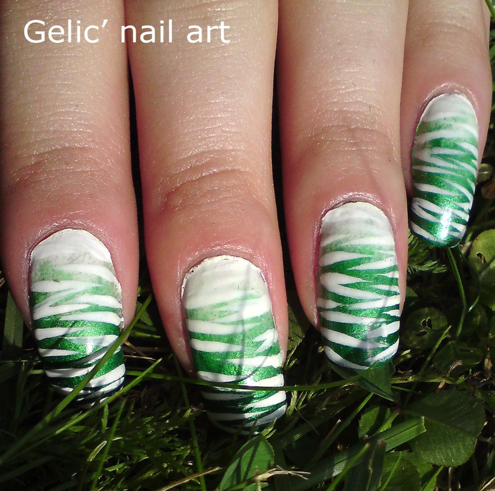 Nail Art Zebra Stripes: Gelic' Nail Art: Zebra Stripes Fading Into Gradient Nail