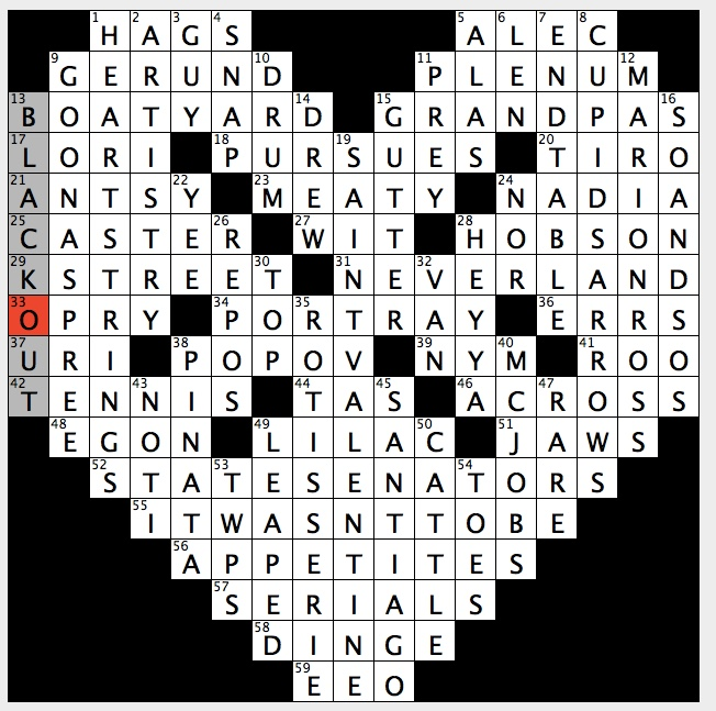 Rex Parker Does The Nyt Crossword Puzzle World Capital Founded By