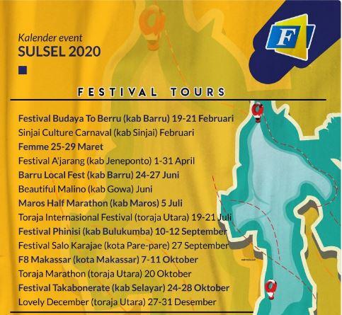 Kalender Event Pariwisata Sulawesi Selatan 2020