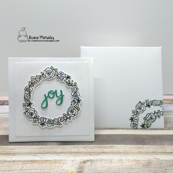 Joy by Diane features Happy Little Thoughts and Snow Globe Shaker Die set by Newton's Nook Designs; #newtonsnook