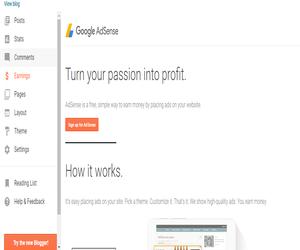 Cara Menampilkan Menu Penghasilan Adsense Di Blogspot