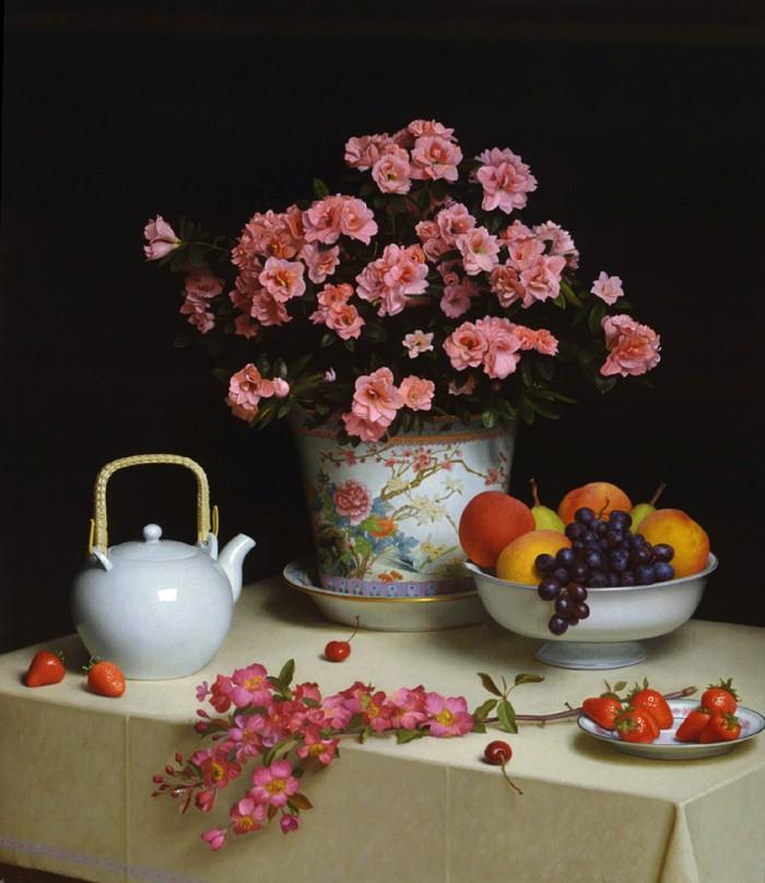 Stephen Gjertson. Цветочные натюрморты 9
