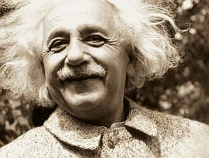Albert Einstein - one happy guy