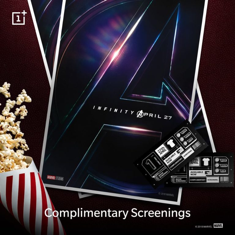 """Get """"Avengers-The Infinity War"""" Free Movie Tickets From OnePlus"""